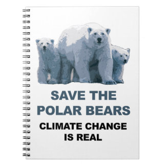 Retten Sie die polaren Bären Notizblock