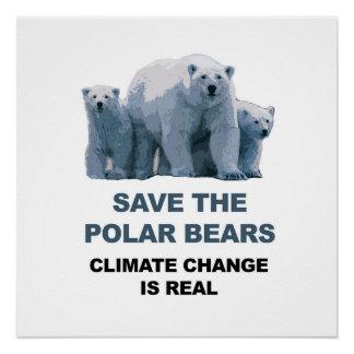 Retten Sie die polaren Bären! Poster