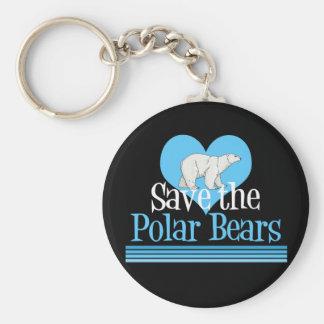 Retten Sie die polaren Bären Standard Runder Schlüsselanhänger