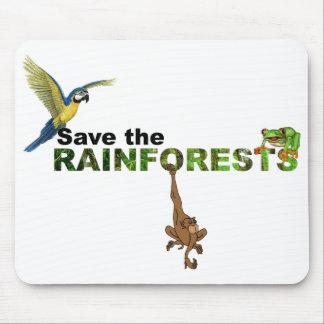 Retten Sie die Regenwälder Mousepad
