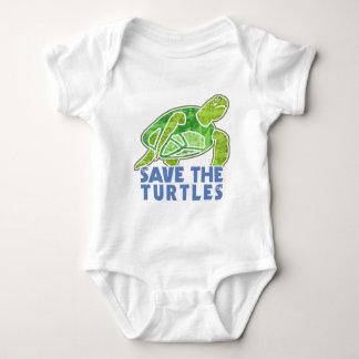 Retten Sie die Schildkröten Baby Strampler