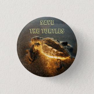Retten Sie die Schildkröten Runder Button 2,5 Cm