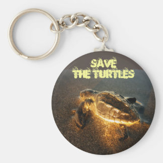 Retten Sie die Schildkröten Schlüsselanhänger