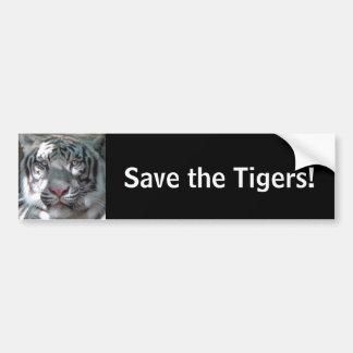 Retten Sie die Tiger Autoaufkleber