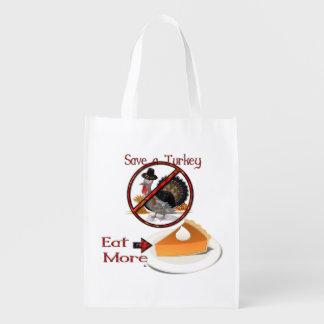 Retten Sie die Türkei essen mehr Torte Wiederverwendbare Einkaufstaschen