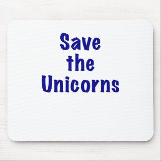 Retten Sie die Unicorns Mousepad
