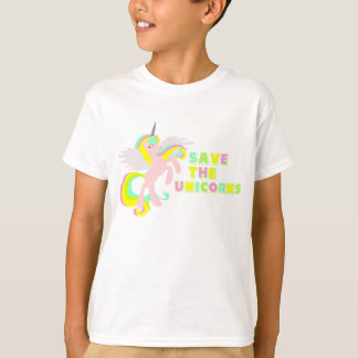RETTEN SIE DIE UNICORNS!! Niedlicher Unicorn T-Shirt