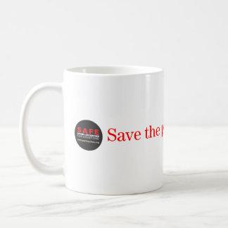 Retten Sie die Vergangenheit für unsere zukünftige Kaffeetasse