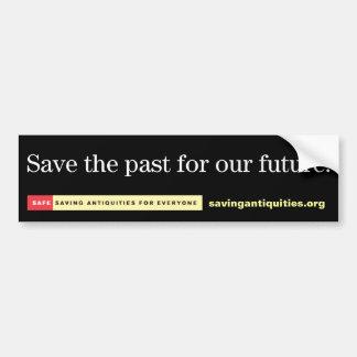 Retten Sie die Vergangenheit für unseren Autoaufkleber
