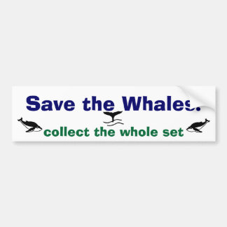 Retten Sie die Wale! Autoaufkleber