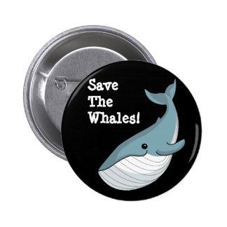 Retten Sie die Wale Runder Button 5,1 Cm