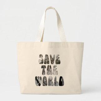 retten Sie die Welt Einkaufstasche