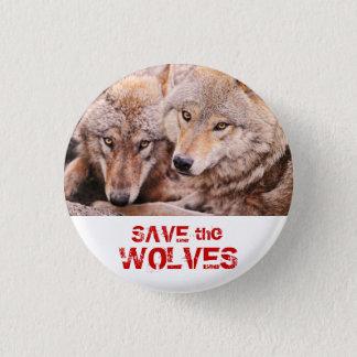 Retten Sie die Wölfe Runder Button 2,5 Cm