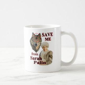 Retten Sie die Wölfe von Sarah Palin Kaffeetasse