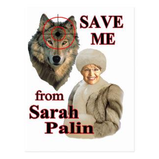 Retten Sie die Wölfe von Sarah Palin Postkarte