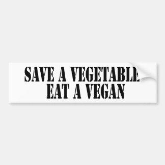 Retten Sie ein Gemüse essen ein veganes! Autoaufkleber