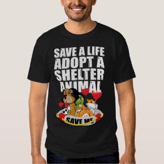 Retten Sie ein Leben adoptieren ein Schutz-Tier Hemd