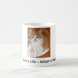 Retten Sie ein Leben - adoptieren Sie eine Kaffeetasse