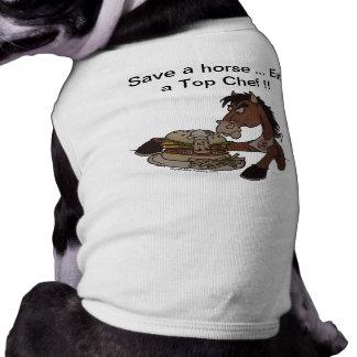 Retten Sie ein Pferd… Essen Sie auf Koch - MED-Hun Shirt