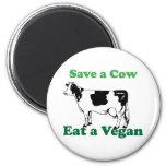 Retten Sie eine Kuh Kühlschrankmagnete