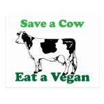 Retten Sie eine Kuh Postkarten