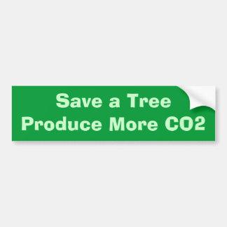 Retten Sie einem TreeProduce mehr CO2 Auto Aufkleber