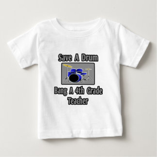 Retten Sie einem Trommel-… Knall einen 4. Baby T-shirt