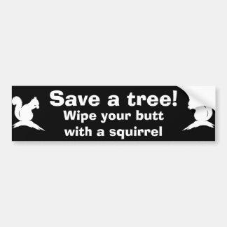 Retten Sie einen Baum! Autoaufkleber