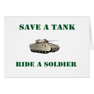 Retten Sie einer Behälter-Fahrt einen Soldaten 4 Karte