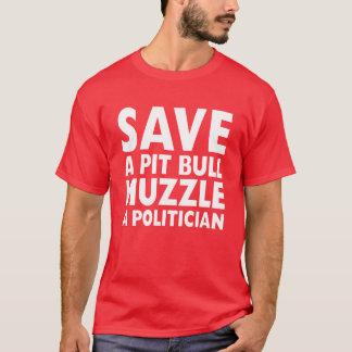 Retten Sie einer Gruben-Stier-Mündung einen T-Shirt