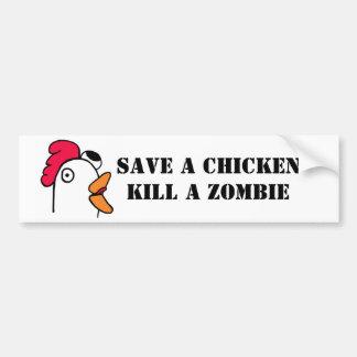Retten Sie einer Huhn-Tötung einen Zombie Autoaufkleber