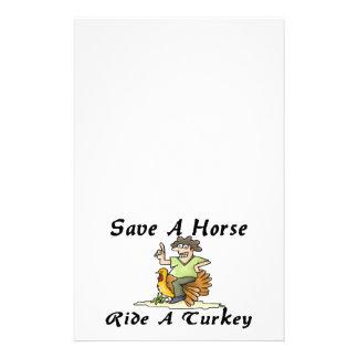 Retten Sie einer Pferdefahrt die Türkei Briefpapier