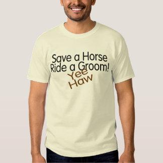 Retten Sie einer Pferdefahrt einen Bräutigam Hemd