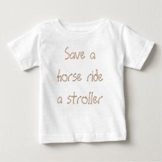 Retten Sie einer Pferdefahrt einen Stroller Baby T-shirt