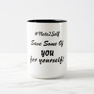 Retten Sie einige von Ihnen für selbst! Zweifarbige Tasse