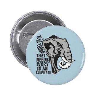 Retten Sie Elefanten Anstecknadelbutton