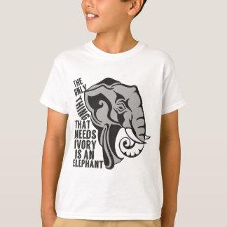 Retten Sie Elefanten Endpochierendes Elfenbein T-Shirt