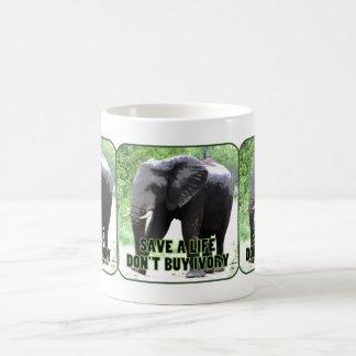 Retten Sie Elefanten, kaufen Sie nicht Kaffeetasse