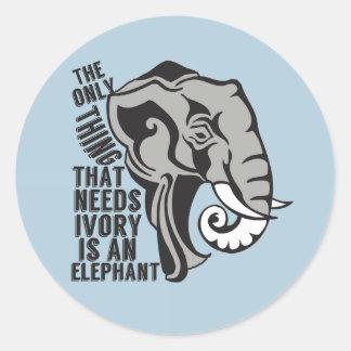 Retten Sie Elefanten Runder Aufkleber