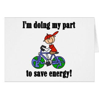 Retten Sie Energie Klimat-shirts und Geschenke Karte