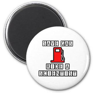 Retten Sie Gas-… Fahrt einen Wissenschaftler Runder Magnet 5,7 Cm