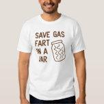 Retten Sie Gas-Furz in einem Glas Shirts