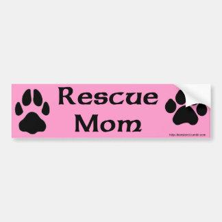 Retten Sie Mamma mit Hunde- und Autoaufkleber