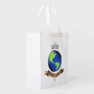 Retten Sie Mutter-Erde Wiederverwendbare Einkaufstasche