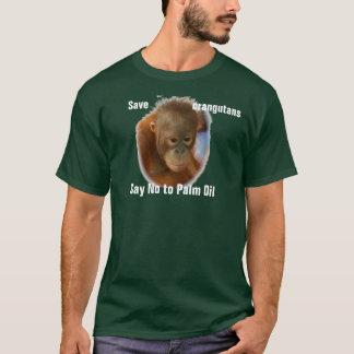 Retten Sie Orang-Utans ablehnen Palmöl T-Shirt