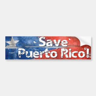 Retten Sie Puerto Rico! Autoaufkleber