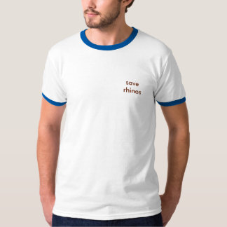 retten Sie Rhinos männlichen Wecker-T - Shirt