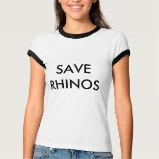 RETTEN Sie RHINOS T-Stück T-Shirt