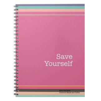 Retten Sie sich Notizbuch Notizblock