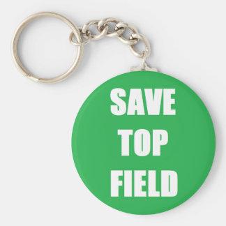 Retten Sie Spitzenfeld - kleinen Kreis Keychain Schlüsselanhänger